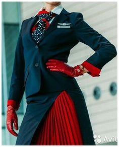 TRANSAERO - Russian Airline Flight Attendant Stewardess Uniform Set - 12 Items! | eBay