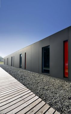 EQUITONE facade materials. Water sports station in Poland. www.equitone.com #architecture #material #facade