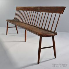 $1,500 - $2,500 Shaker Red-stained Pine and Birch Settee