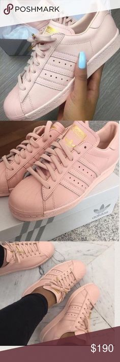Rose Gold Adidas Superstars BRAND NEW W BOX Adidas Shoes Sneakers