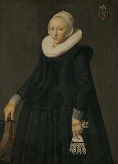 Portrait of Trijntje Tijsdr van Nooij, Wife of Reinier Ottsz Hinloopen (Tryntgen Tysdr. van Nooy), Anonymous, 1631. Another great gauntlet design.