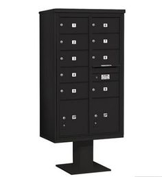 4C Pedestal Mailbox (Includes 13 Inch High Pedestal and Master Commercial Locks) - 15 Door High Unit (70-1/4 Inches) - Double Column - 9 MB2 Doors / 2 PL5 - Black by Salsbury Industries. $1591.32. 4C Pedestal Mailbox (Includes 13 Inch High Pedestal and Master Commercial Locks) - 15 Door High Unit (70-1/4 Inches) - Double Column - 9 MB2 Doors / 2 PL5 - Black - Salsbury Industries - 820996454829. Save 26%!