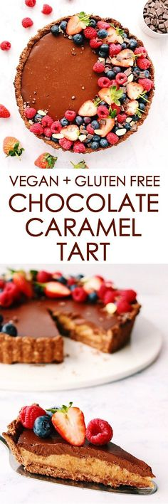 CHOCOLATE CARAMEL TART {vegan, gluten free} - Gina Burgess Nutrition