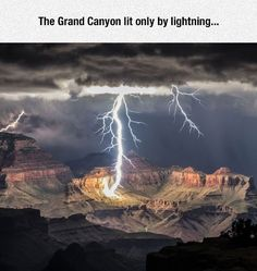 Lit only by lightning.