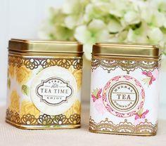 Stamp Your Own Vintage Tea Tins | Damask Love Blog