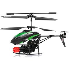 Skyco New V398 3.5 Channel Missile Shooting RC Helicopter RTF with Six Missiles rapid fire (Colors May vary) -- You can get additional details at the image link.