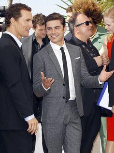 ¡Al dos por uno! Los guapísimos Matthew McConaughey y Zac Efron engalanaron la jornada en Cannes.