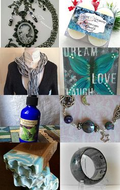Silver and Blues by Elsie's Creative Designs by Lisa Cook on Etsy--Pinned with TreasuryPin.com