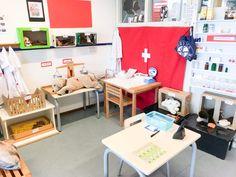 In de hoek: bij de dierenarts Role Play Areas, Kindergarten, Pet Health, Toddler Activities, Office Desk, Corner Desk, Preschool, Google, Animals
