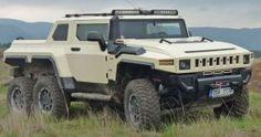 Pickup - Czech Hummer based on Land Rover Discovery VIDEO - Cars show Hummer Truck, 6x6 Truck, Gm Trucks, Jeep Truck, Lifted Trucks, Chevy Trucks, Pickup Trucks, Dually Trucks, Custom Trailers