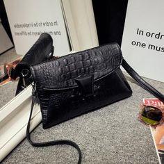 INLEELA High Quality Crocodile Day Clutch Fashion Women Messenger Bag Small Women Shoulder Bag