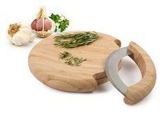 One Kings Lane - Core Bamboo - Mezzaluna Mincing Set.(hopefully I won't cut off my fingers! Kitchen Items, Kitchen Gadgets, Kitchen Tools, Chef Kitchen, Nice Kitchen, Kitchen Products, Kitchen Gifts, Kitchen Stuff, Kitchen Cabinets