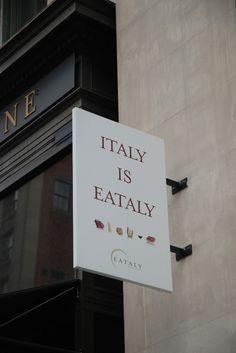 Eataly  New York Photo: waar je echt alles op Italiaans gebied kunt kopen en eten.