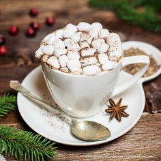 Heiße Schokolade Marshmallows, Tea Cups, Tableware, Kitchen, Hot Chocolate, Cacao Powder, Cooking Recipes, Essen, Cooking