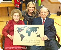 diy world map of where family members have served as missionaries