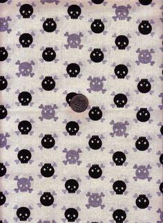 skulls, glitter cream, half yard, sliver glitter, fabric skull, japanes cotton, yard japanes, yards, cotton fabric