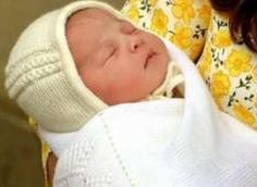 William and Catherine's baby girl, about 10 hours old, on 2 May 2015.