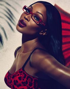Naomi Campbell for Dolce & Gabbana #Eyewear Animalier Collections 2011