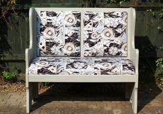 'Button' velvet furnishing fabric