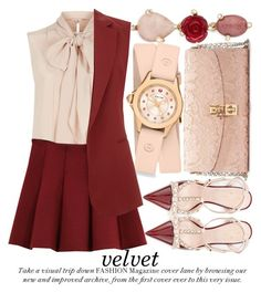 """VELVET"" by noraaaaaaaaa ❤ liked on Polyvore featuring MaxMara, Oscar de la Renta, Dolce&Gabbana, Outstanding Ordinary, Michele, Theory and Kate Spade"