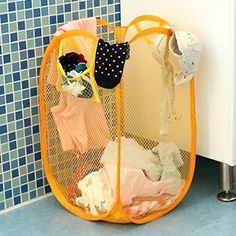 Nylon Mesh Fabric Laundry Basket Storage Basket For Toy Washing Basket Dirty Clothes Sundries Basket Box Foldable OK 0063 Folding Laundry Basket, Laundry Basket Storage, Storage Baskets, Cheap Storage, Storage Boxes, Washing Basket, Clothing Storage, Mesh Fabric, Hanging Chair