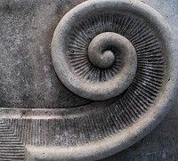 Stone spiral.. not really stairs, but looks like it could be.
