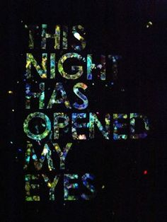 the night #typography