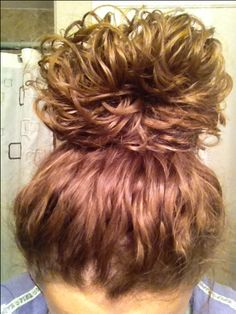 messy bun ❤ When I grow my long curly hair out again