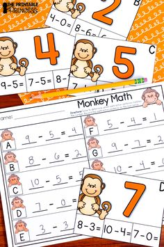 Kindergarten Zoo Centers for Math and Literacy Activities - Use this 50  page resource with your Kindergarten classroom or homeschool students. The no prep practice pages included are great as extra literacy and math centers, quick activities, extra practice, homework, morning work, and much more! These centers are easy to prep and so much fun for students. You get beginning blends, secret code CVCe words, write the room, addition and subtraction practice, tally marks, teen numbers and more. Cli