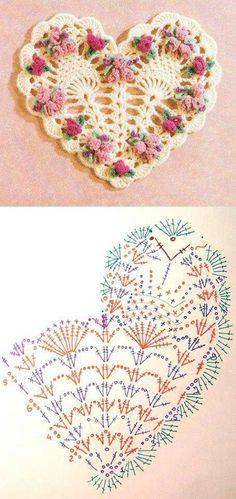 Crochet Heart Motif - Free Crochet Diagram - (crochetoriginal.blogspot):
