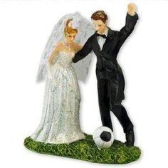 The Football Wedding Cake Topper Soccer Wedding, Sports Wedding, Our Wedding, Dream Wedding, Wedding Ideas, Wedding Planning, Wedding Things, Wedding Bells, Wedding Stuff