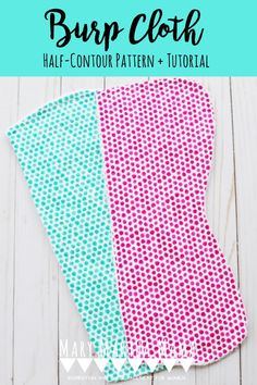 Make these DIY Burp Cloths using the free printable half-contour burp cloth pattern. It's the perfect baby sewing tutorial. Baby Sewing Tutorials, Easy Sewing Projects, Sewing Projects For Beginners, Burp Cloth Patterns, Pdf Sewing Patterns, Free Sewing, Diy Baby Gifts, Kids Gifts, Diy Baby Quilting