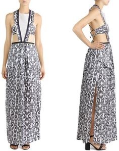 Convertable zipper maxi dress in Medusa print by Terry Jolo