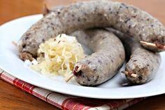 Jeden z klasických receptů na výrobu domácí jitrnice. Ham, Sausage, The Cure, Bacon, Food And Drink, Pork, Cooking, Bohemian, Kitchens