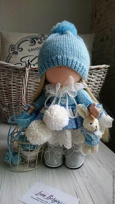 Купить Текстильная кукла - голубой, текстильная кукла, подарок на любой случай, интерьерная кукла https://www.etsy.com/shop/Dollslenabergova