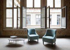 Appleton armchairs and Pebble tables   Marie's Corner