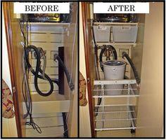 closet organizing - Google Search Closet Organization, Organizing, Utility Closet, Home Appliances, Google Search, House Appliances, Appliances, Armoire Makeover