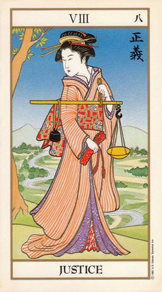 Justice - Ukiyoe Tarot