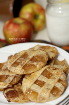 apple pie cookies fall recipe easy after school snack that the kids can help put together.