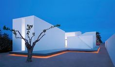 Designed in 2006 by OAB Carlos Ferrater for a photographer this beautiful minimalist property is located in Alcanar, Spain.
