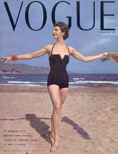 Pinned by www.funkyfabrix.com.au 1950s model Bettina Graziani covering Vogue