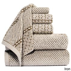 This beautiful and elegant yarn dyed jacquard 100-percent cotton six-piece towel sets adds a fashionable flair to any bathroom or spa. They are thick and thirsty as a sold but a real fashion statement, combining utility and fashion rolled into one.