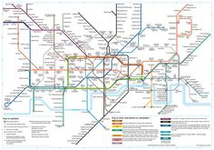 Tube journeys in London where it's quicker to walk - a map