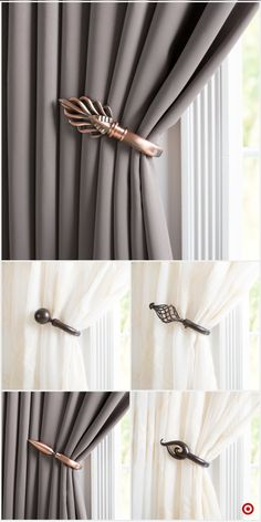 Shop Target for drapery holdback you will love at great low Living Room Decor Curtains, Home Curtains, Modern Curtains, Hanging Curtains, Diy Room Decor, Bedroom Decor, Shabby Chic Curtains, Window Curtains, Rideaux Design