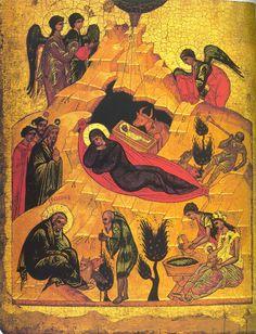 Andrei Rublev ~ Nativity of Christ, 1405