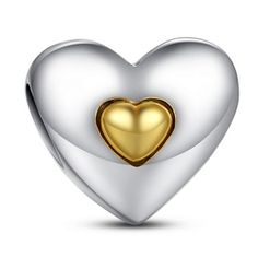 La Mia Cara Jewelry - Principessa Charm - 11 Variants of Unique CZ Diamonds Sterling Silver Heart Charm