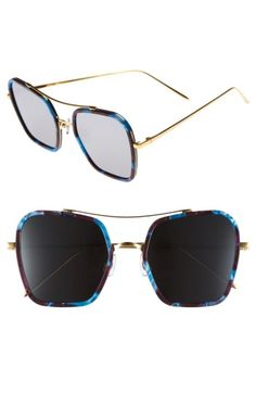 9cad769449b1 GENTLE MONSTER 53MM RETRO SQUARE SUNGLASSES - BLUE  BURGUNDY  BLACK MIRROR.   gentlemonster  . ModeSens