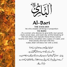 The 99 Beautiful Names of Allah with Urdu and English Meanings: 12- ALLAH names