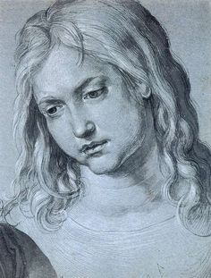 Head of the Twelve Year Old Christ by Albrecht Durer, 1506