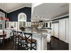Aquilane Shores | Transitional Kitchen - Dark Blue and White - Naples, FL